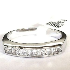Jewelry - Silver Anniversary Eternity Ring Band Size 8 9 10
